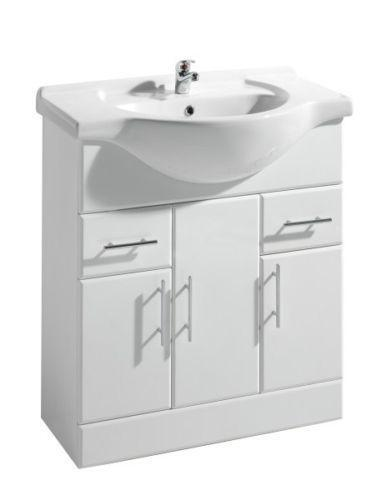 750 vanity unit cabinets cupboards ebay for Bathroom cabinet 750