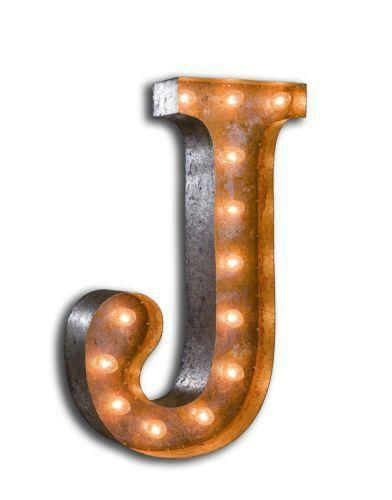 blue j vintage industrial metal sign light letters marquee marquee letter light collectibles ebay 947