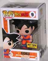 Exclusive Funko Pop Goku (Hot Topic) with Black Hair