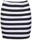 Striped Mini Skirts for Women