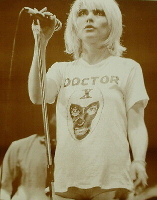 "Blondie Poster Print - Debbie Harry On The Mic Photo - 11""x14"" Sepia"