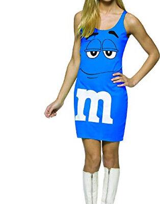 Morris Costumes M&M'S Blue Tank Dress 13-16](Blue M&m Halloween Costume)