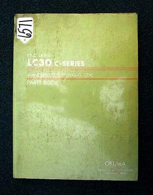 Okuma Parts Book For Cnc Lathe Lc30 C-series Le15-023-r3 Inv 6571