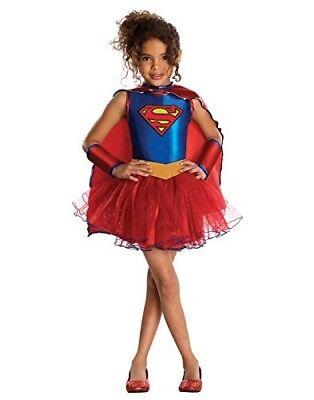 Supergirl Mädchen Tutu Halloween Zum Verkleiden Kostüm Kinder Klein (Supergirl Tutu Kostüm)