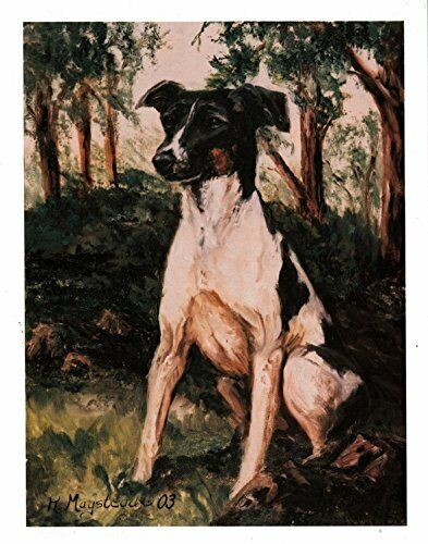 New Rat Terrier In Forest 12 Note Cards (Notecard) 6 Envelopes By Ruth Maystead
