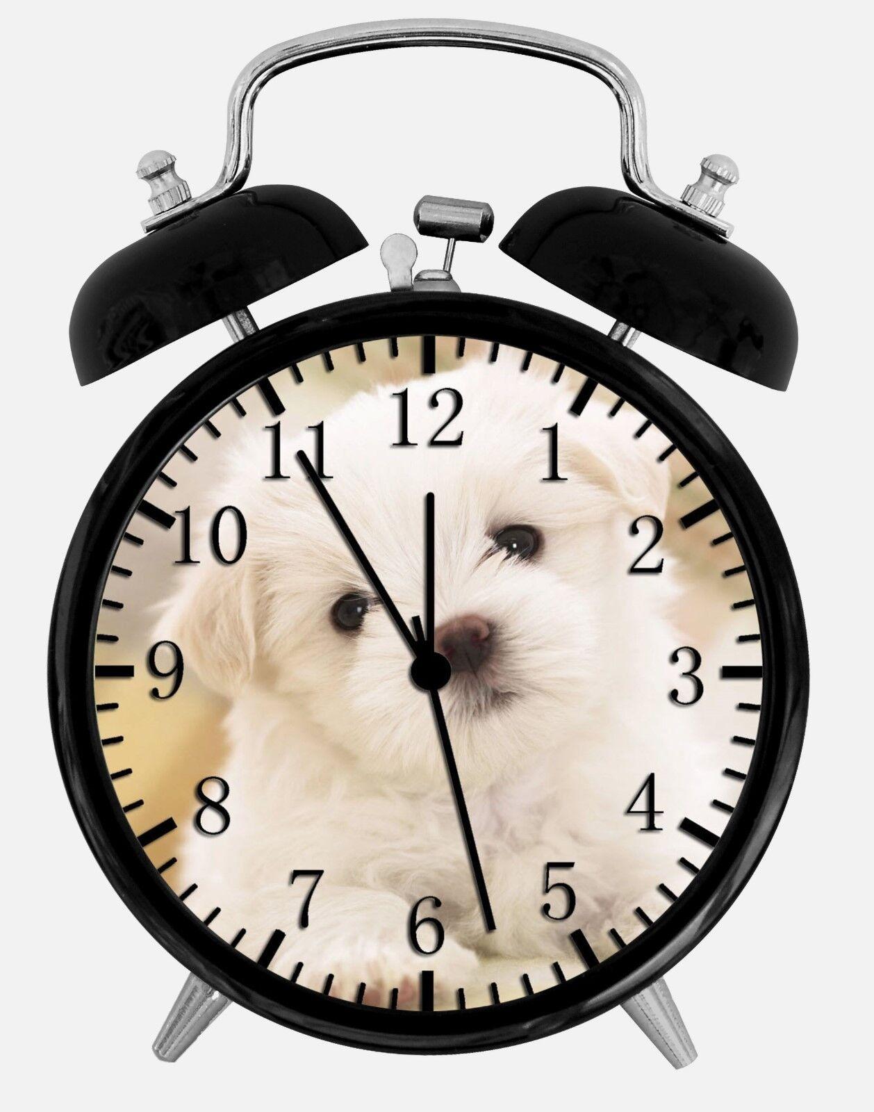 """Maltese Alarm Desk Clock 3.75"""" Home or Office Decor W156 Nice For Gift"""