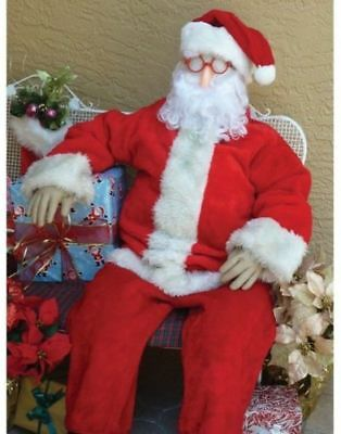 Stuffed Dummy Halloween Prop Set Poseable Dummy 6 Tall Life Size for Santa or - Life Size Dummy