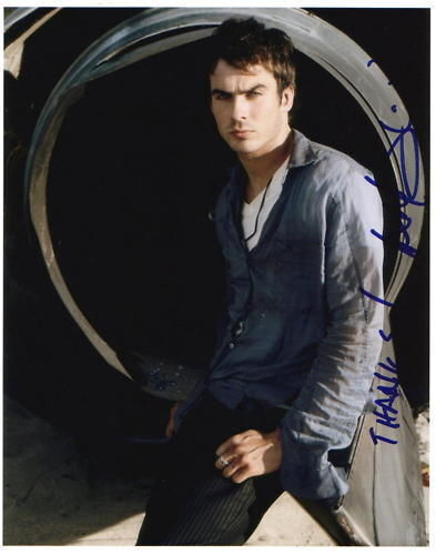 IAN SOMERHALDER.. Lost's Boone Carlyle - SIGNED