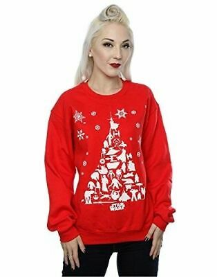 Star Wars Womens Christmas Red Jumper sweatshirt Official Disney Merchandise XS