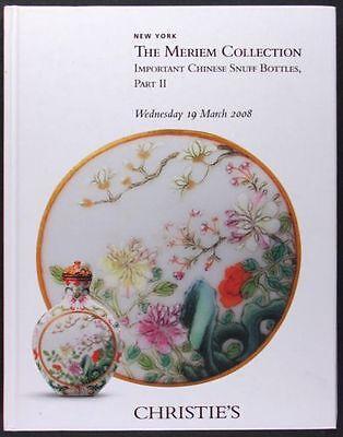 Antique Chinese Snuff Bottles - Meriem Collection 2 volumes @ Christie's