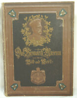 Antique German Bismarck Museum Book Circa 1899