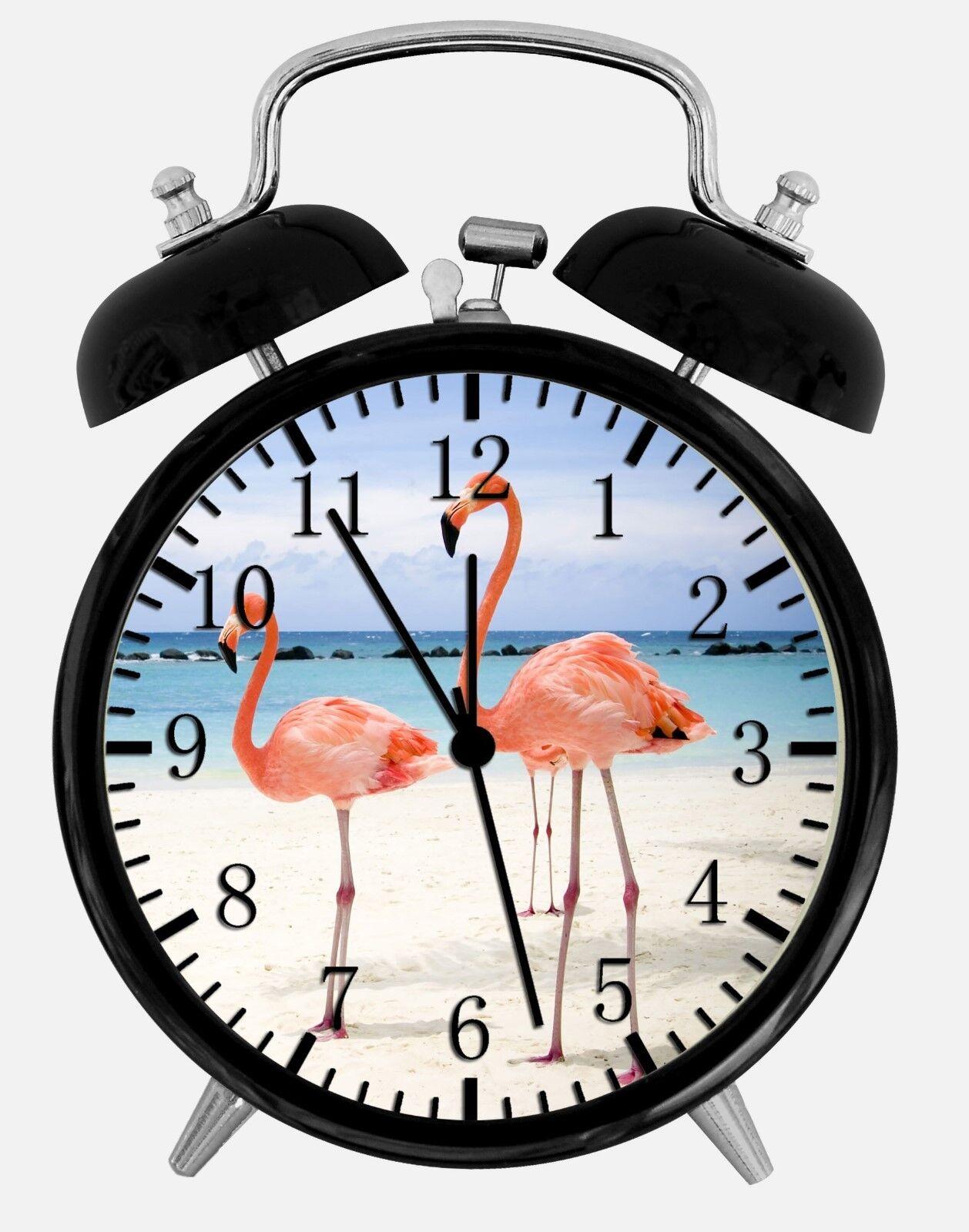 "Flamingos Alarm Desk Clock 3.75"" Home or Office Decor W143 Nice For Gift"