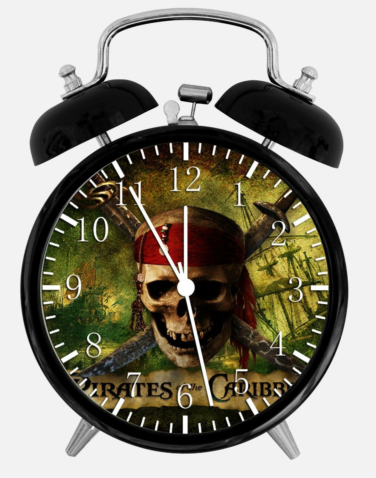 "Pirates of the Caribbean Alarm Desk Clock 3.75"" Room Office Decor W149 Nice Gift"