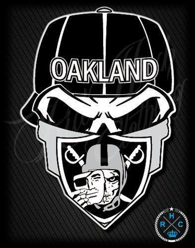 Oakland Raiders Nail Art: Raider Nation: Football-NFL