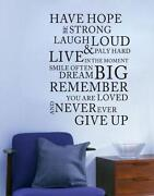 Hope Wall Stickers Quotes