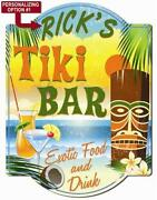 Personalized Tiki Bar Signs