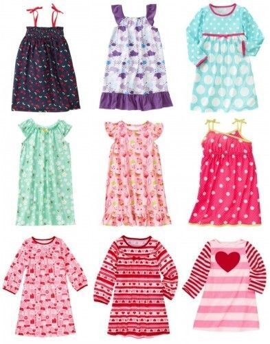 NWT Gymboree Girl  Nightgown Pajama Various Styles Size 2T 3-4 5-6 7-8 10-12