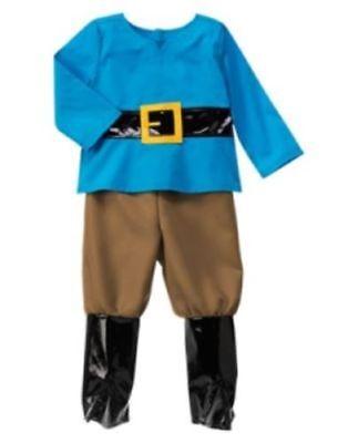 GYMBOREE HALLOWEEN BOY GNOME COSTUME w/ HAT & BEARD 18 24 2T 3T 4T NWT - Halloween Costumes W Beards