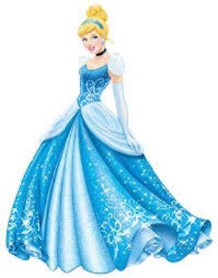 48  CINDERELLA BLUE DRESS DISNEY STICKER LABEL ENVELOPE SEALS 1.2