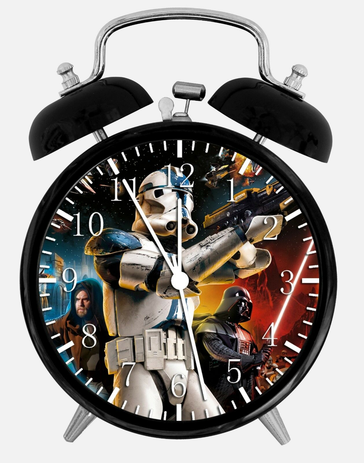 """Star Wars Alarm Desk Clock 3.75"""" Home or Office Decor W75 Nice For Gift"""
