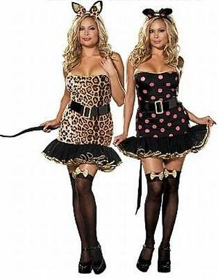 Cat And Mouse Costume (When the Cat's Away Mouse and Cat Dress Sexy Adult Reversible Womens Costume)