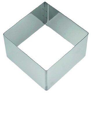 Dessert-Formen 1 x Dreieck 8 x 4,5 cm / 1 x Quadrat 7 x 7 x 4,5 cm, rostfrei    ()