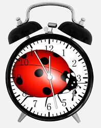Cute Lady Bug Alarm Desk Clock 3.75 Home or Office Decor E315 Nice For Gift