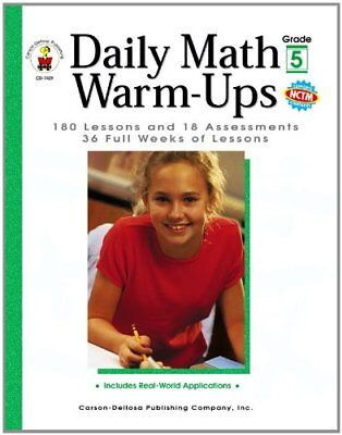 Daily Math Warm Ups - Daily Math Warm-Ups, Grade 5: 180 Lessons and 18 Assessments; 36 Weeks of Lesso