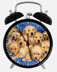 Cute Golden Retriever Alarm Desk Clock 3.75 Home or Office Decor W176 Nice Gift