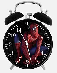 Spiderman Alarm Desk Clock 3.75 Home or Office Decor W82 Nice For Gift