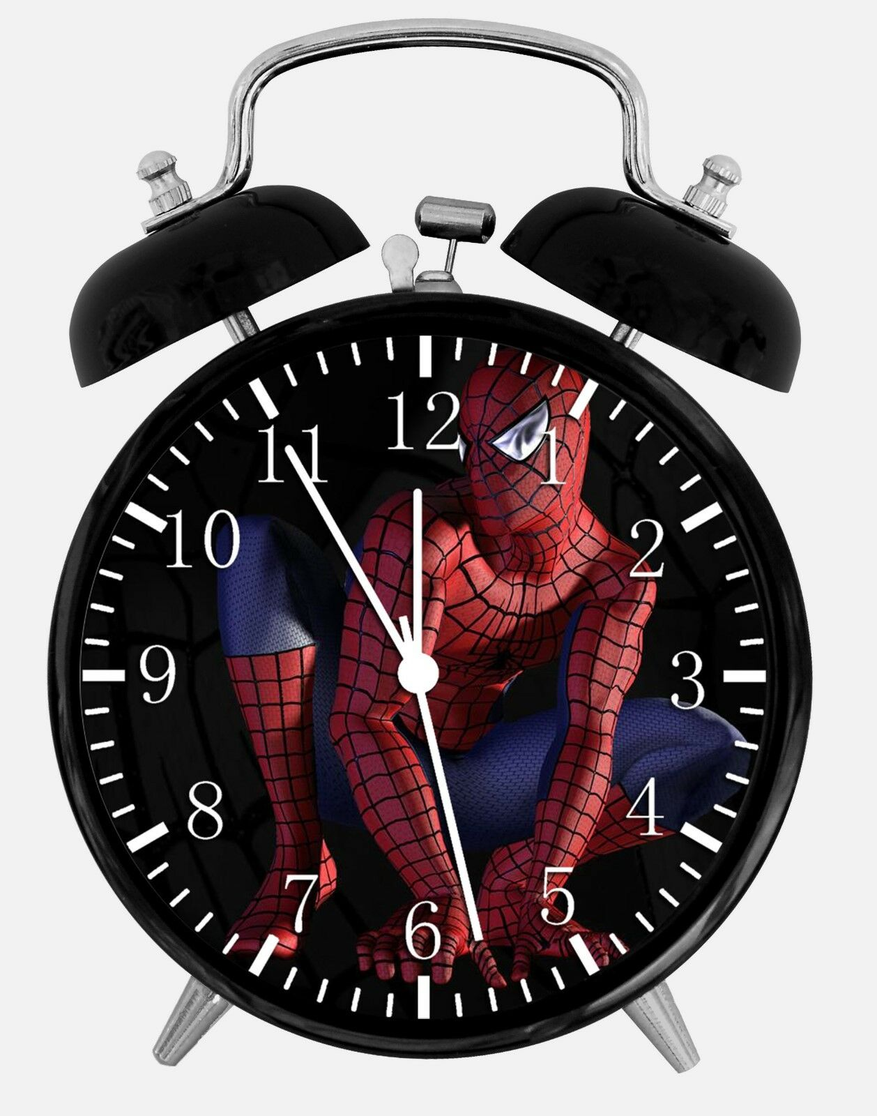 "Spiderman Alarm Desk Clock 3.75"" Home or Office Decor W82 Nice For Gift"