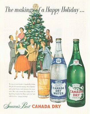 1952 Canada Dry Ginger Ale & Ale Seasons Best PRINT