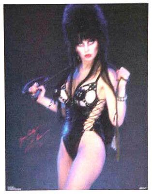 "Vintage Elvira Poster- Elvira in Leather ""Yours Cruelly"" Poster-Original 17""x22"""