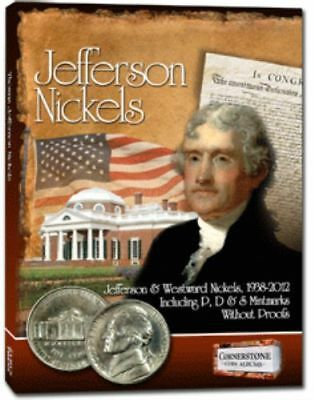 NEW Cornerstone Coin Album Jefferson Nickels 1938 TO 2012 P D S FOLDER HOLDER