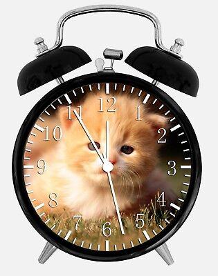 Süß Kätzchen Katze Alarm Schreibtisch Uhr 9.5cm Heim oder Büro Dekor W91 Schön (Kätzchen Wecker)