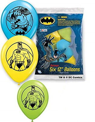 "Pioneer National Assorted Batman 12"" Latex Party Balloons, 6"