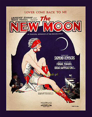 THE NEW MOON Gypsy Lady Pirate 8x10 vintage sheet music cover Art Deco - Gypsy Moon Costume