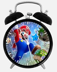 Super Mario Alarm Desk Clock 3.75 Home or Office Decor W72 Nice For Gift