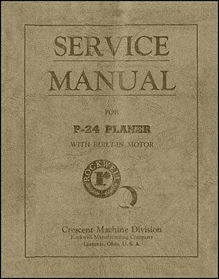 Rockwell P-24 Planer Service Manual