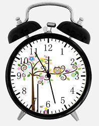 Cute Owl Alarm Desk Clock 3.75 Home or Office Decor E382 Nice For Gift