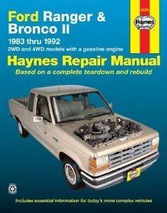 New Haynes Repair Manual Ford Ranger & Bronco II Haynes Repair Manual covering a