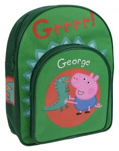 Peppa Pig 'George Dino' School Bag Rucksack Backpack Brand New Gift