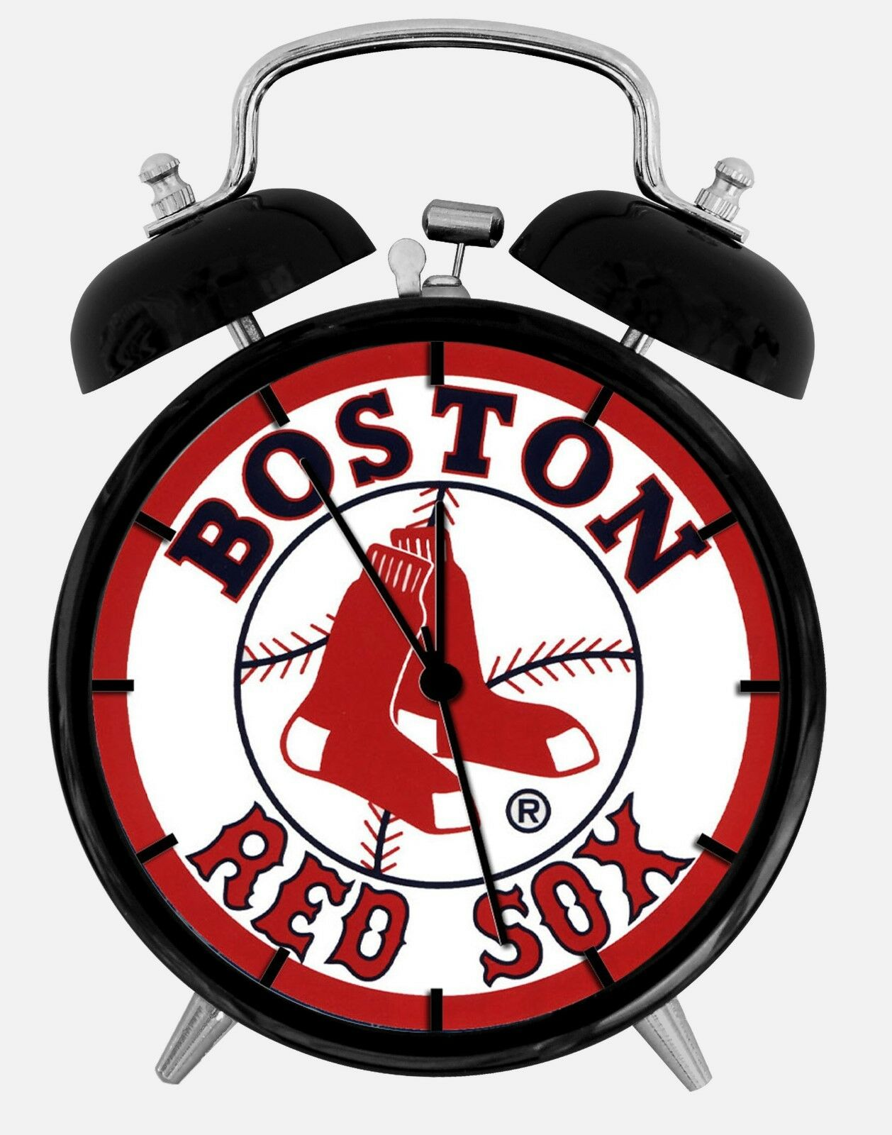 "Boston Red Sox Alarm Desk Clock 3.75"" Home or Office Decor W86 Nice For Gift"