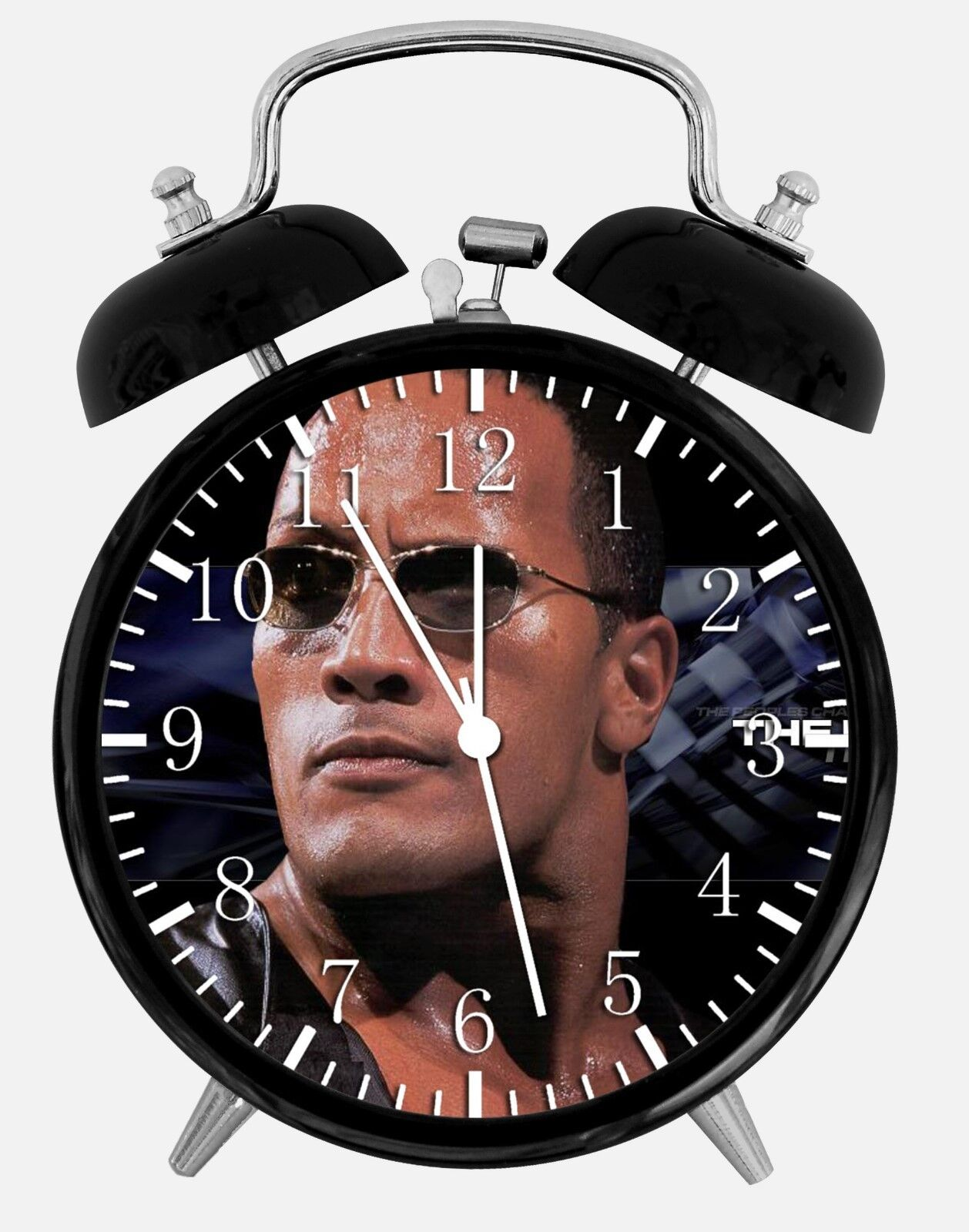 "Rock Dwayne Johnson Alarm Desk Clock 3.75"" Home or Office Decor W87 Nice Gifts"