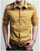 Mens Casual Slim Fit Dress Shirts