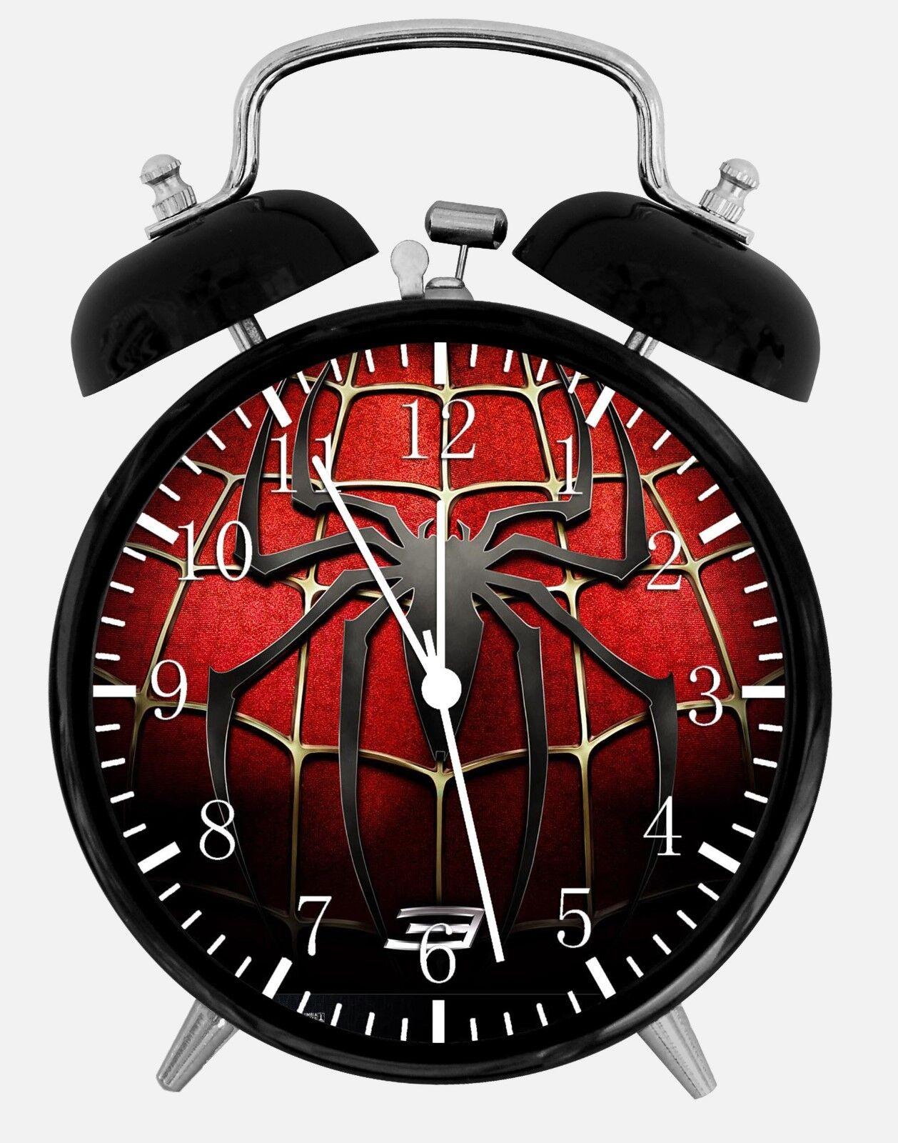 "Spiderman Spider Man Alarm Desk Clock 3.75"" Room Office Decor W148 Nice For Gift"