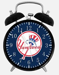 New York Yankees Alarm Desk Clock 3.75 Home or Office Decor W103 Nice For Gifts