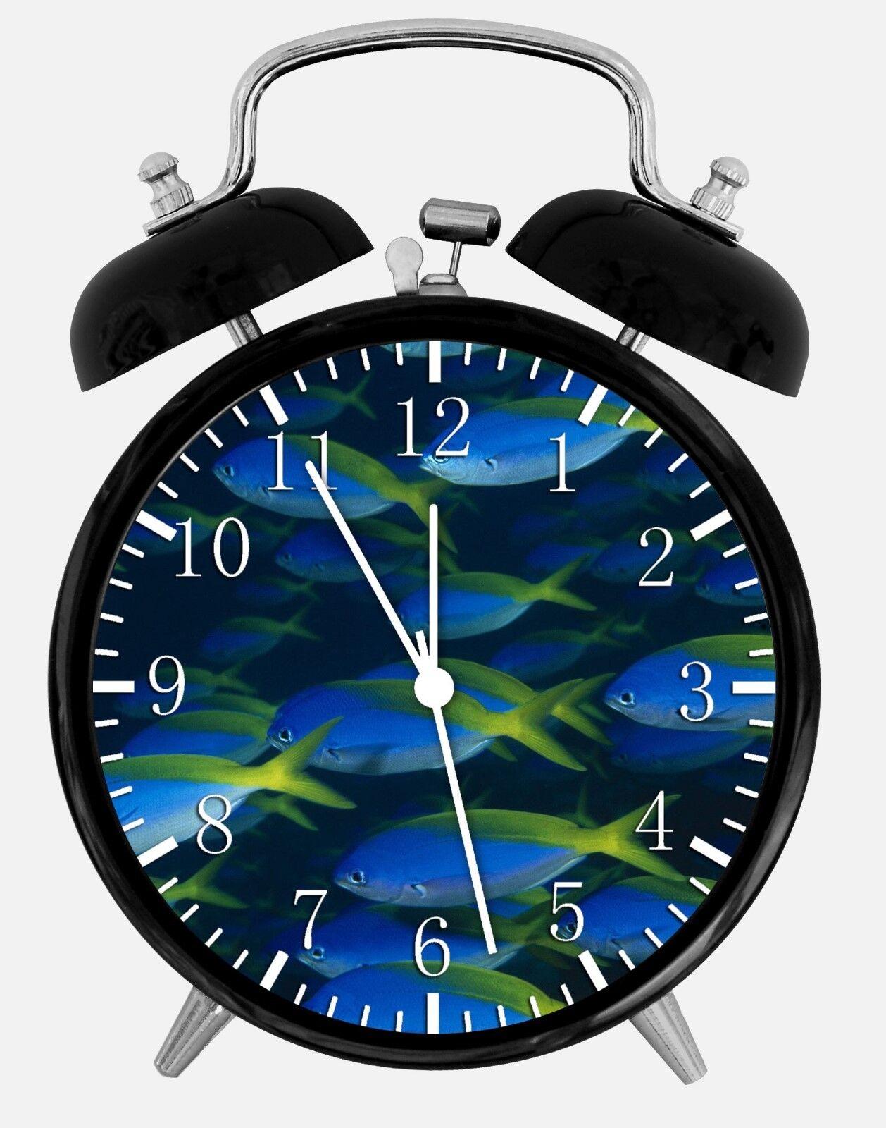 "Tropical Ocean Fish Alarm Desk Clock 3.75"" Room Office Decor W138 Nice For Gift"