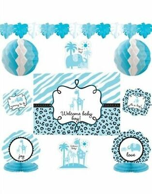 10 Pieces - It's a Boy Baby Shower Decorating Kit - Sarari Jungle Theme - Jungle Themed Baby Shower Decorations