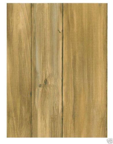 Faux wood wallpaper ebay - Faux wood plank wallpaper ...